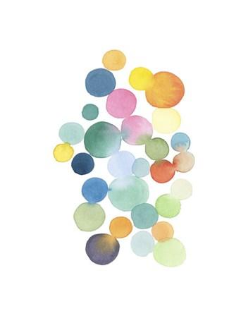 Series Colored Dots No. III by Louise van Terheijden art print