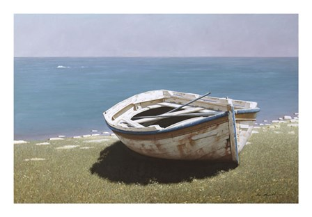 Weathered Boat by Zhen-Huan Lu art print