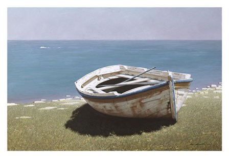 Weathered Boat by Zhen-Huan Lu art print