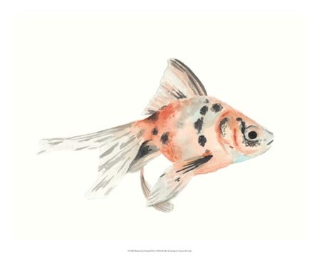 Watercolor Tropical Fish I by Naomi McCavitt art print