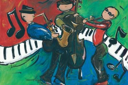 Jazz Ensemble by Terri Einer art print