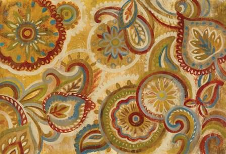 Mandala and Paisley by Silvia Vassileva art print