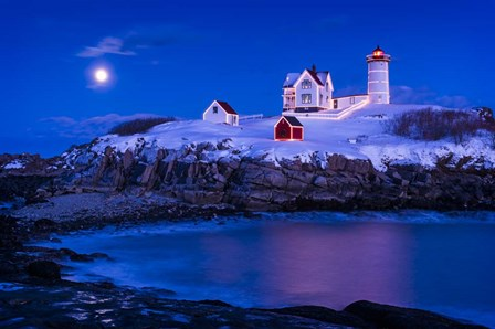 Christmas At Nubble by Michael Blanchette Photography art print