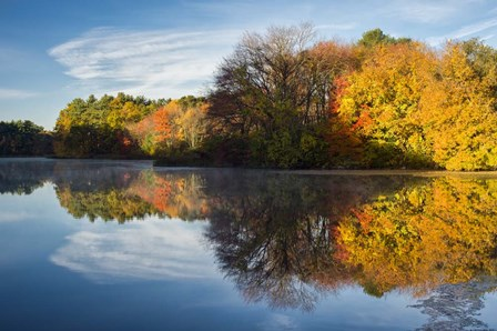 Color On Grist Mill Pond by Michael Blanchette Photography art print