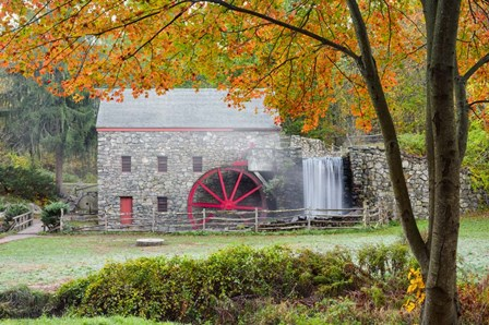 Autumn at the Grist Mill by Michael Blanchette Photography art print