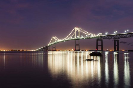 Dusk over Newport Bridge by Michael Blanchette Photography art print