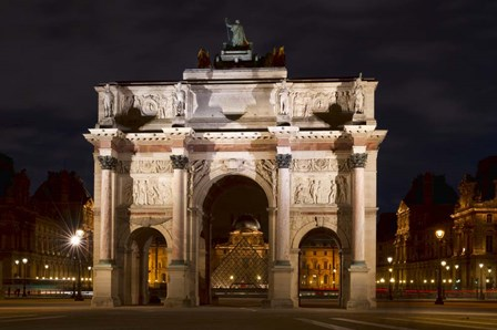 Arc de Triomphe du Carrousel by Michael Blanchette Photography art print