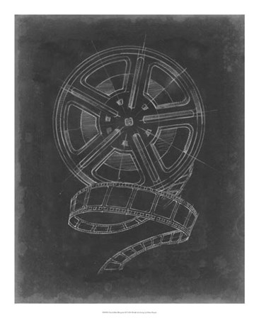 Film & Reel Blueprint I by Ethan Harper art print