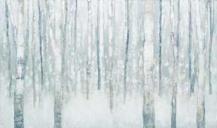 Birches in Winter Blue Gray by Julia Purinton art print