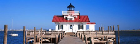 Roanoke Marshes Lighthouse, Outer Banks, North Carolina by Panoramic Images art print