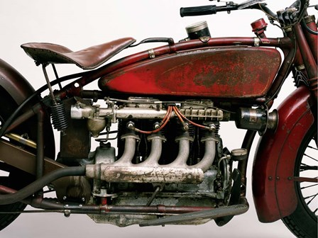 Detail of 4 Cylinder Indian Ace, 1929 by Markus Cuff art print