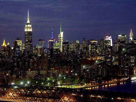 Midtown Manhattan at Night 1 by Richard Berenholtz art print