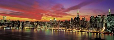 Sunset Over New York (detail) by Richard Berenholtz art print