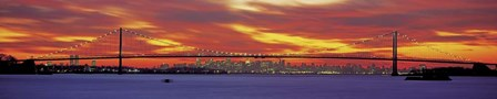 Queensboro and Manhattan Bridge, New York City by Richard Berenholtz art print