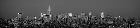 Manhattan Skyline by Richard Berenholtz art print