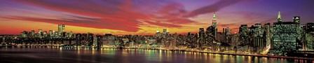 Sunset Over New York by Richard Berenholtz art print