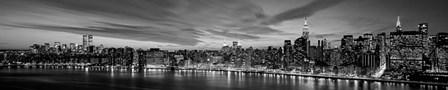 Manhattan Dusk by Richard Berenholtz art print