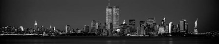 Manhattan Skyline 2001 by Richard Berenholtz art print
