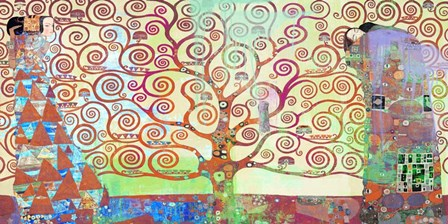 Klimt's Tree of Life 2.0 by Eric Chestier art print