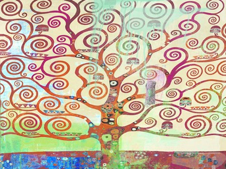 Klimt's Tree 2.0 by Eric Chestier art print