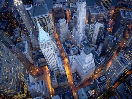 Aerial View of Wall Street by Cameron Davidson art print