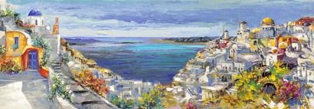 Santorini by Luigi Florio art print