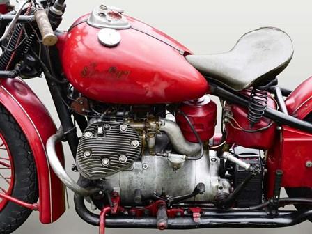 Vintage American Motorbike (detail) by Gasoline Images art print
