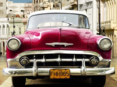 Classic American Car in Habana, Cuba by Gasoline Images art print