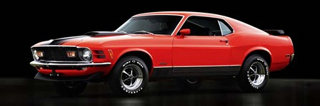 Ford Mustang Mach 1 by Gasoline Images art print