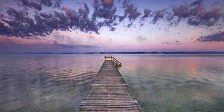 Boat Ramp and Filigree Clouds, Bavaria, Germany by Frank Krahmer art print