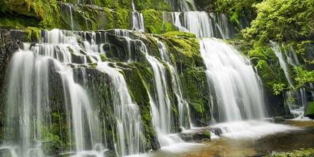 Waterfall Purakaunui Falls, New Zealand by Frank Krahmer art print