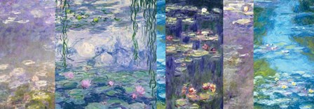 Waterlilies I by Claude Monet art print
