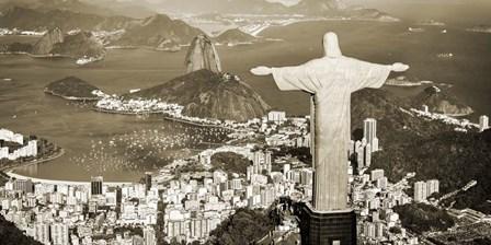 Overlooking Rio de Janeiro, Brazil by Pangea Images art print