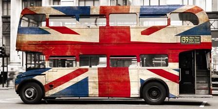 Union Jack Double-Decker Bus, London by Pangea Images art print