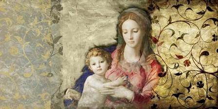 Virgin Mary (after Bronzino) by Simon Roux art print