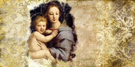 Madonna del Candelabro (after Raffaello) by Simon Roux art print