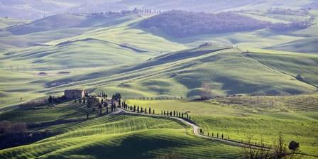 A Road in Tuscany by Vadim Ratsenskiy art print