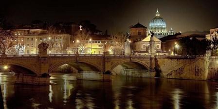 Rome at Night by Vadim Ratsenskiy art print