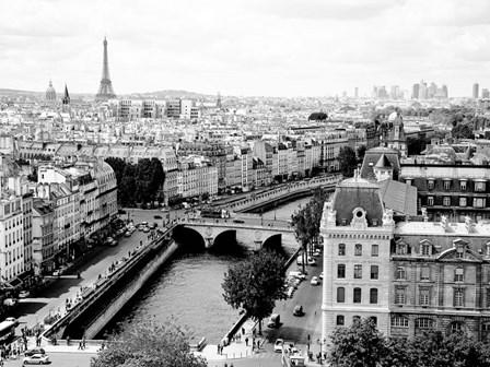 View of Paris and Seine River by Vadim Ratsenskiy art print