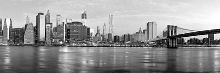 Manhattan and Brooklyn Bridge, NYC 1 by Vadim Ratsenskiy art print