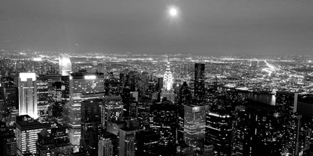 Aerial View of Manhattan, NYC by Michael Setboun art print