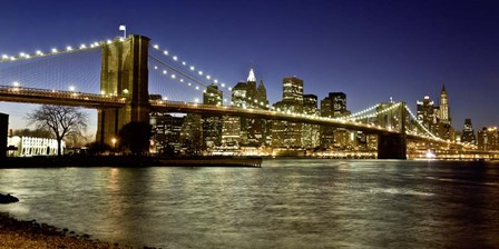 Panoramic View of Lower Manhattan at dusk, NYC by Michael Setboun art print