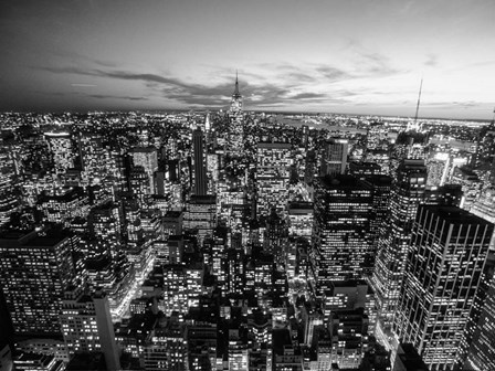 Manhattan Skyline with the Empire State Building, NYC by Michael Setboun art print