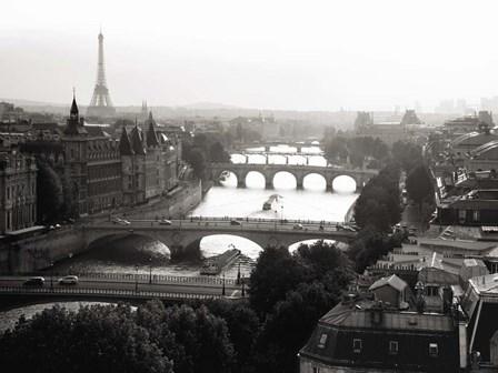 Bridges over the Seine River, Paris 2 by Michael Setboun art print