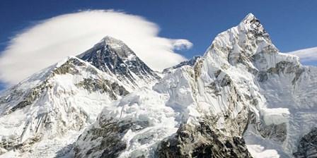 Mount Everest (detail) art print