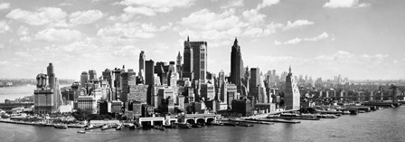 Manhattan Waterfront (detail) art print