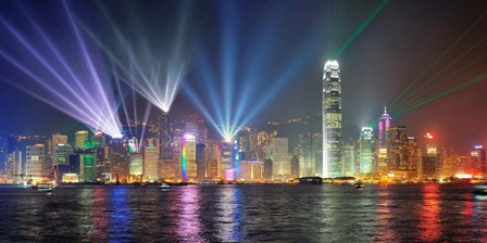 Symphony of Lights, Hong Kong art print
