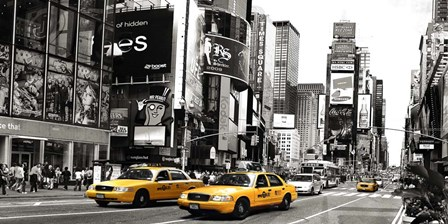 Taxi in Times Square, NYC art print