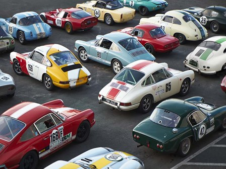 Vintage sport cars at Grand Prix, Nurburgring art print