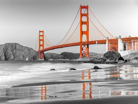 Baker Beach and Golden Gate Bridge, San Francisco 1 art print